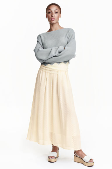Chiffon skirt - Natural white - Ladies | H&M CN 1