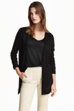 Fine-knit cardigan - Black - Ladies | H&M GB 3