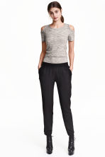 Pull-on trousers - Black - Ladies | H&M 4