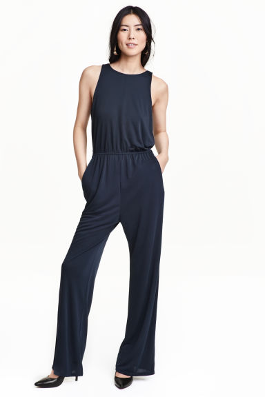 Sleeveless jumpsuit - Dark blue - Ladies | H&M CN 1