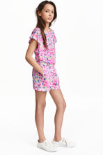 Playsuit - Pink/Patterned - Kids | H&M CN 1