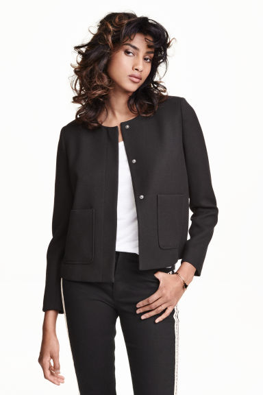 Textured jacket - Black - Ladies | H&M CN 1
