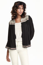 Crinkled blouse jacket - Black - Ladies | H&M CN 1