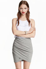 Draped skirt - Grey - Ladies | H&M 4
