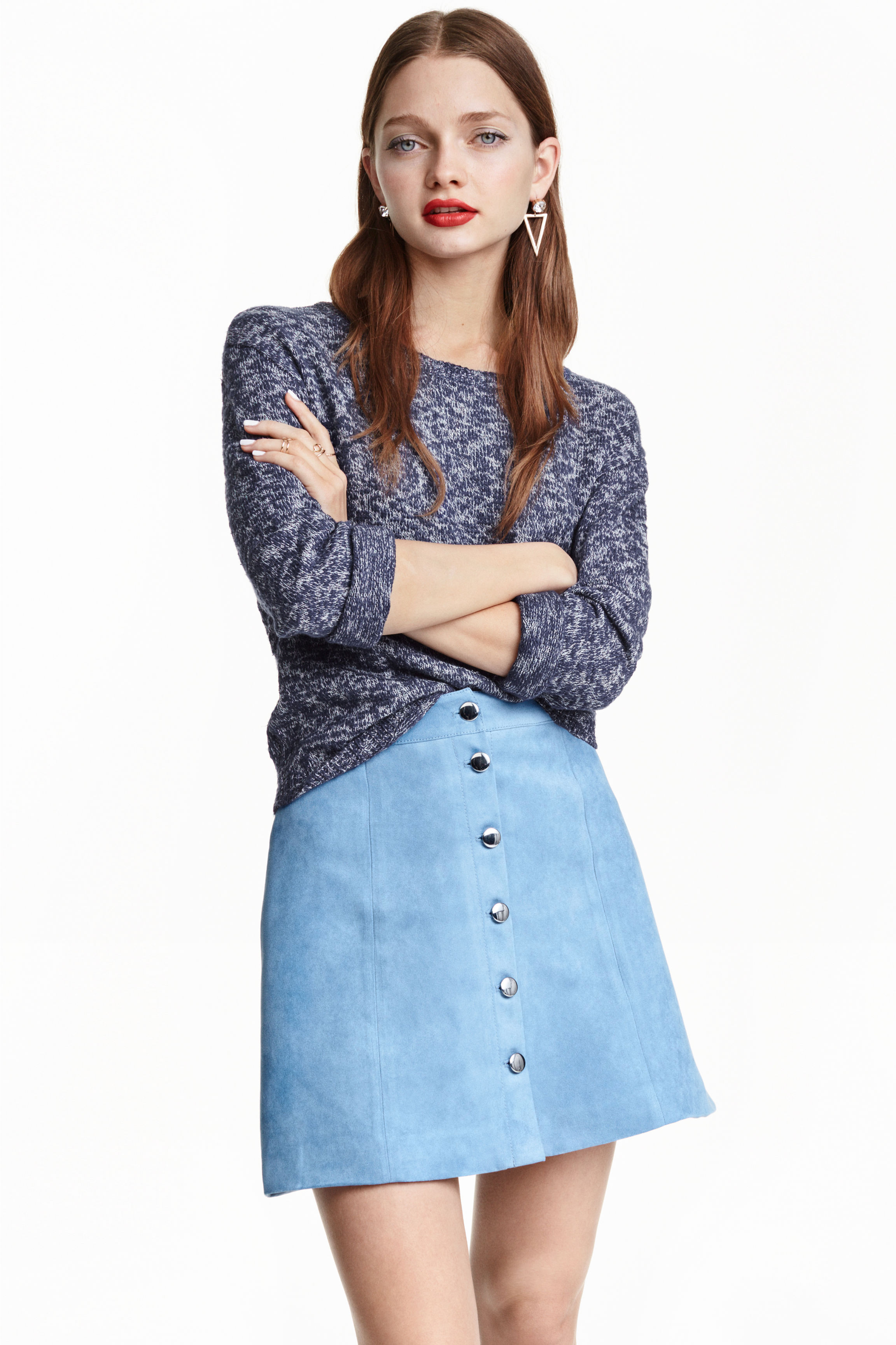 A-line skirt - Denim blue - Ladies | H&M GB