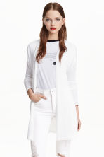 Fine-knit cardigan - White - Ladies | H&M CN 1