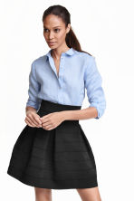 Textured skirt - Black - Ladies | H&M GB 2