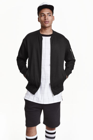 Sweatshirt jacket - Black - Men | H&M CN 1