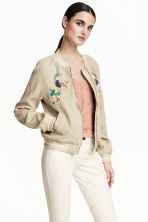 Bomber in lino - Beige - DONNA | H&M IT 1