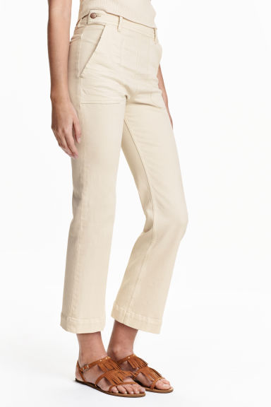Kick Flare Ankle Jeans - Natural white - Ladies   H&M GB