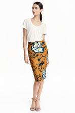 Pencil skirt - Mustard yellow/Patterned - Ladies | H&M GB 1