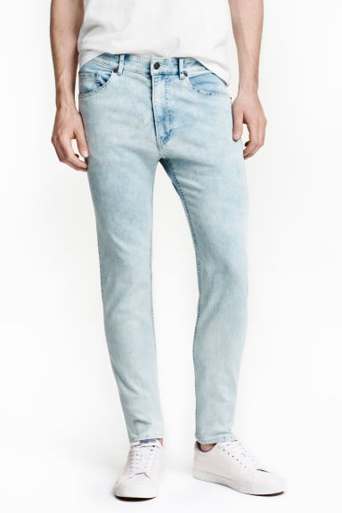 Skinny Regular Jeans - 浅牛仔蓝 - 男士 | H&M CN 1