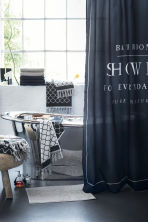 Text-print shower curtain - Black - Home All | H&M CA 2
