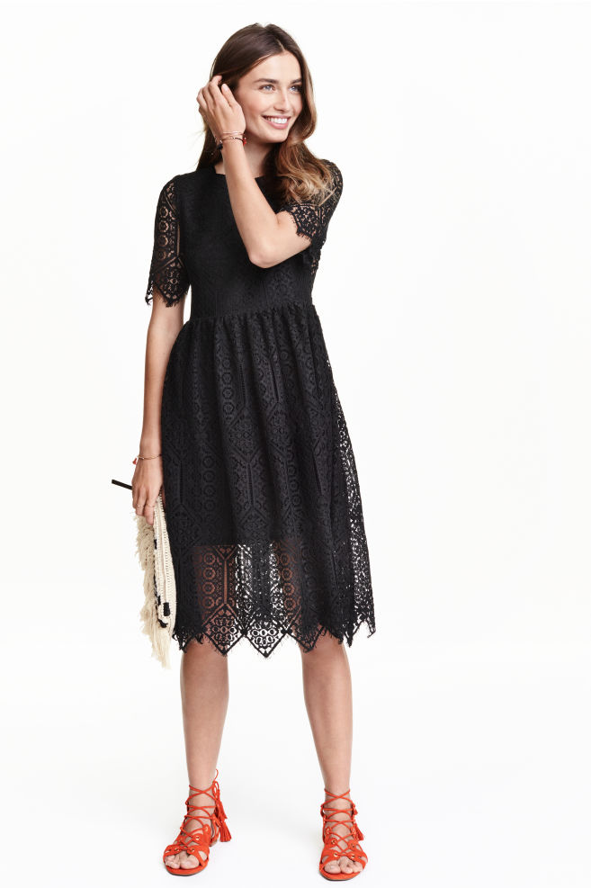 Lace dress - Black - | H&M GB