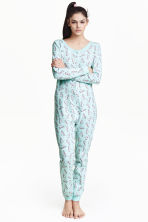 Jersey all-in-one pyjamas - Mint green/Unicorn - Ladies | H&M CN 1