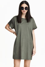 長版T恤 - Khaki green - Ladies | H&M 4