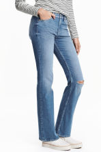 Boot cut Regular Jeans - Light denim blue - Ladies | H&M GB 1