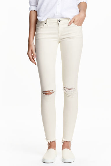 Super Skinny Low Ankle Jeans - White - Ladies | H&M GB