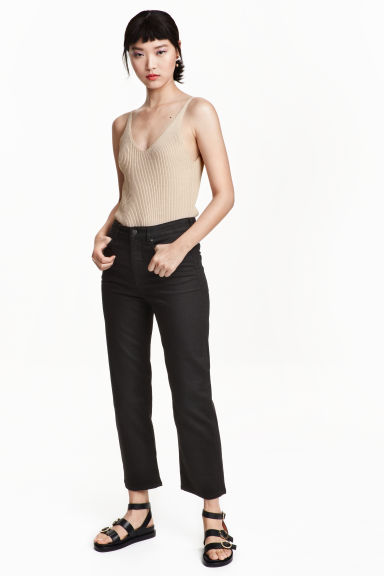 Cropped High Jeans - Black - Ladies | H&M GB 1