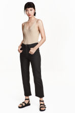 Cropped High Jeans - Black - Ladies | H&M CN 1