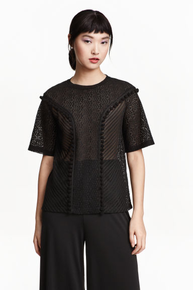 Top in pizzo - Nero - DONNA | H&M IT 1