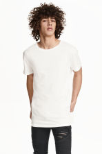 Lang T-shirt - Wit - HEREN | H&M NL 2