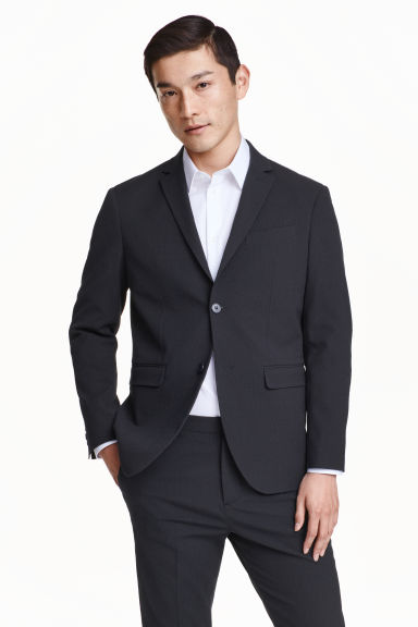 Blazer in seersucker - Blu scuro - UOMO | H&M IT 1