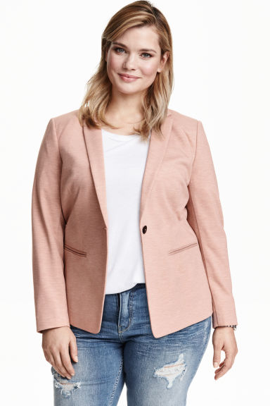H&M+ Fitted jacket - Powder pink - Ladies | H&M CN 1