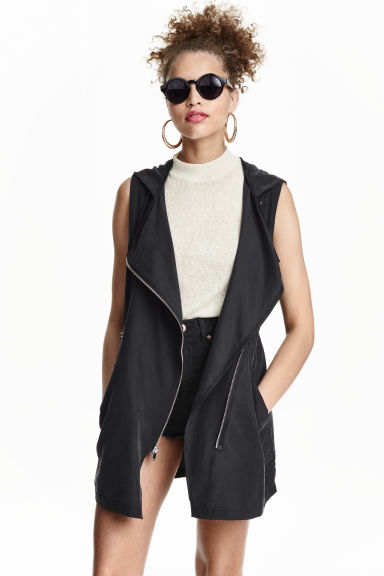 Hooded gilet - Black - Ladies | H&M CN 1