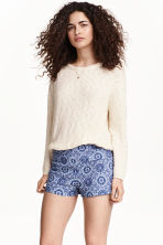 Patterned shorts - Dark blue - Ladies | H&M CN 1