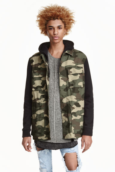 Cargo jacket - Khaki/Patterned - Men | H&M CN 1