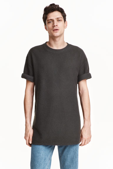 Oversized T-shirt - Dark grey - Men | H&M CN 1
