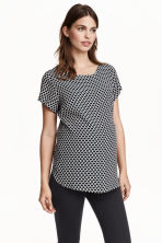 MAMA Short-sleeved blouse - Natural white/Patterned - Ladies | H&M GB 1