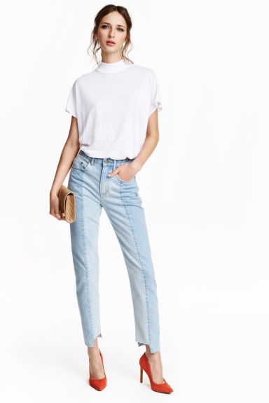 Slim Regular Ankle Jeans - Licht denimblauw - DAMES | H&M BE