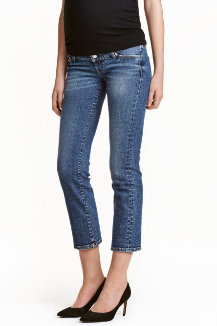 MAMA Straight Cropped Jeans