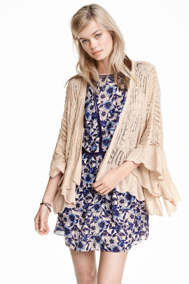 Lace-knit cardigan - Natural white - Ladies | H&M GB