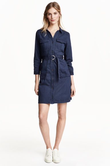 Abito cargo in denim - Blu denim scuro - DONNA | H&M IT 1