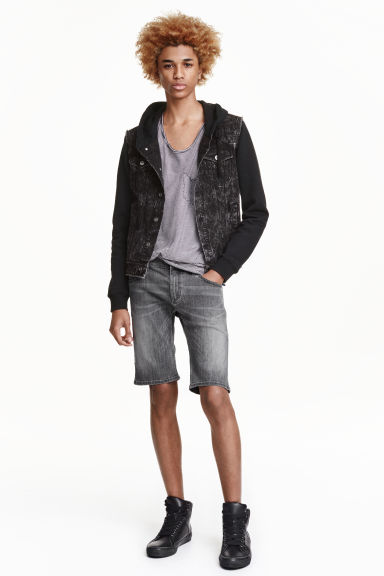 Denim shorts Super skinny fit - Dark grey - Men | H&M GB