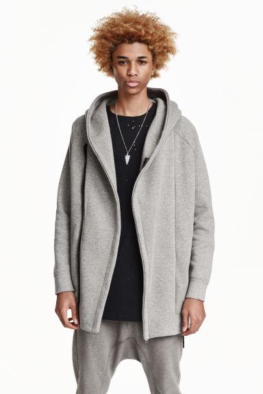 Hooded sweatshirt cardigan - Grey - Men | H&M GB