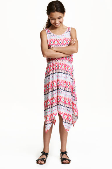 Patterned jersey dress - Cerise/Mint -  | H&M CN 1