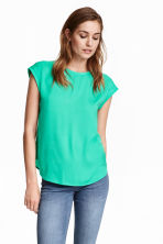 Short-sleeved blouse - Green - Ladies | H&M CN 1
