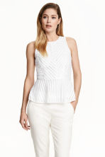 Peplum top - White - Ladies | H&M CN 1