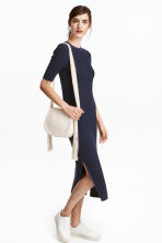 Ribbed dress - Dark blue - Ladies | H&M GB 1
