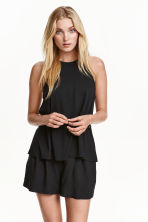 Sleeveless jersey top - Black - Ladies | H&M CN 1