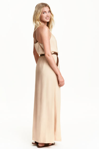 Maxi dress - Light beige -  | H&M CN 1