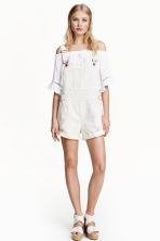 Dungaree shorts - White - Ladies | H&M CN 1