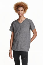 V-neck T-shirt - Dark grey - Men | H&M CN 1