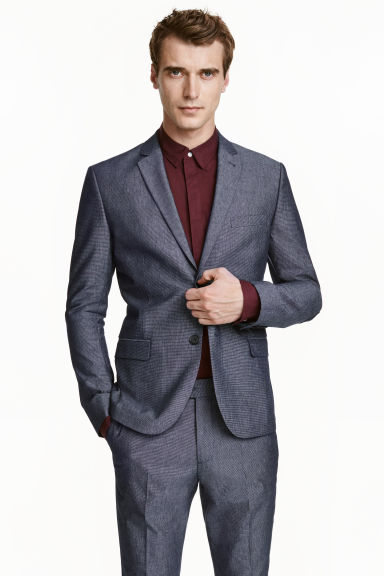 Blazer Oxford Slim fit - Blu scuro - UOMO | H&M IT 1