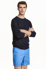 Cotton shorts Slim fit - Bright blue - Men | H&M CN 1