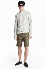 Cotton shorts - Khaki green - Men | H&M CN 1